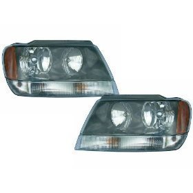 Jeep Grand Cherokee Laredo Headlights OE Style Replacement Headlamps Driver/P...