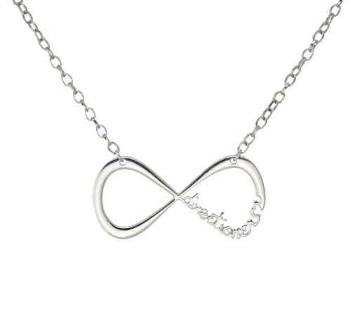 Uk POP Band One Direction Infinite Directioner Silver Tone Necklace w/Gift Box