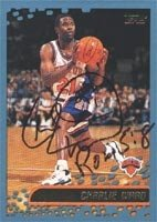 Charlie Ward New York Knicks 2001 Topps Autographed Hand Signed Trading Card. by Hall of Fame Memorabilia