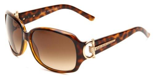 Gucci Women's 3168/S Rectangle Sunglasses,Havana Frame/Brown Gradient Lens,One Size