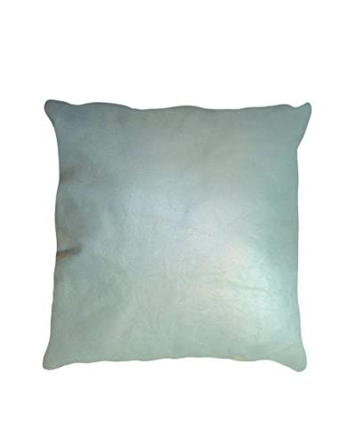 Sienna Leather Pillow, Cool Gray