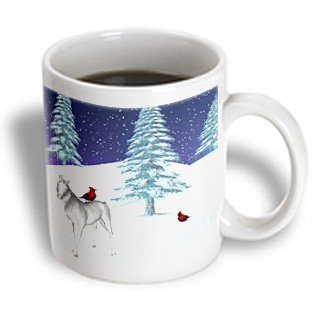 Renderly Yours Winter And Christmas - Unicorn And Cardinal In Winter - 11Oz Mug (Mug_18580_1)