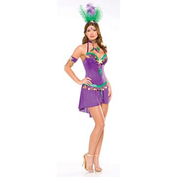 Mardi Gras Queen Plus Adult Costume