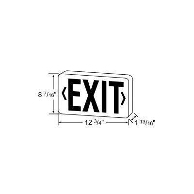 Royal Pacific RXL16RBA Double Face Die-Cast Exit Sign, Brushed Aluminum with Red Letters
