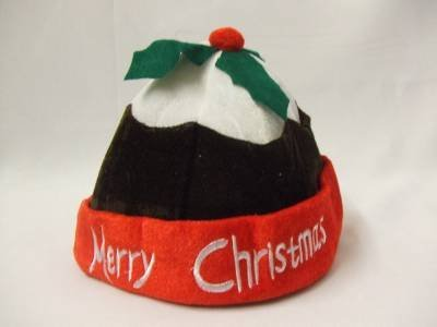 [Christmas Pudding Hat ~ Mrs Santa Hat ~ Dinner ladies ~ Festive ~ Plum ~ Figgy by Creative] (Plum Pudding Costumes)
