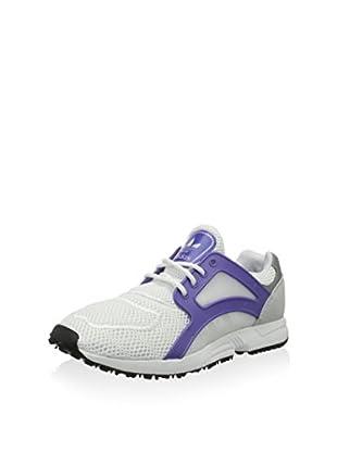 adidas Zapatillas Racer Lite (Blanco / Gris / Morado)
