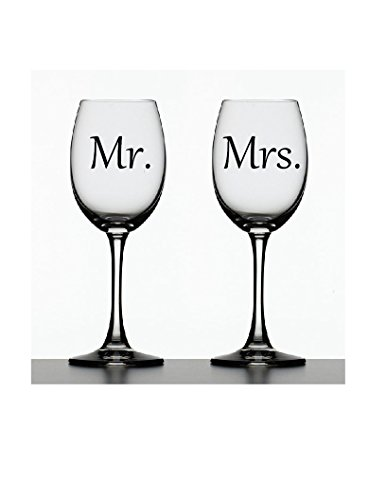 Mr. & Mrs. Decals ~ Set of 2 Decals ~ 2.5