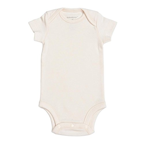 Organic Cotton Unisex Baby Bodysuit Onesie, 100% Natural Dye-Free, Thin Be 3M front-220244
