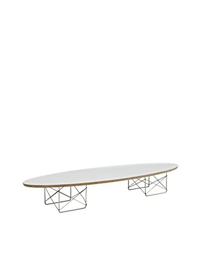 Modway Surfboard Coffee Table, White