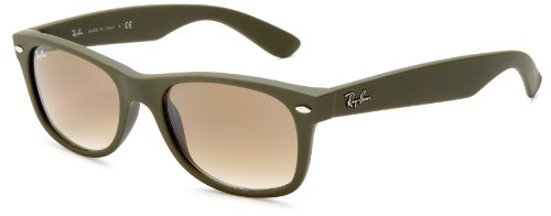 Ray-Ban RB2132 New Wayfarer Sunglasses,Camo Green Frame/Grey Lens,51 mm