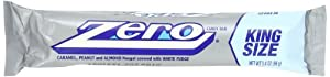 Zero Candy Bar, King Size, 3.4-Ounce Bars (Pack of 12)