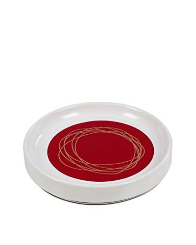 Creative Bath Dot Swirl Soap Dish, Bright