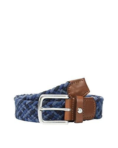 Hackett London Cintura Multi Plait Belt [Blu]