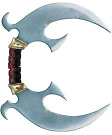 Ninja Weapon Crescent Blade 2-in-1 Halloween Costume Accessory (Ninja Armor Costume compare prices)