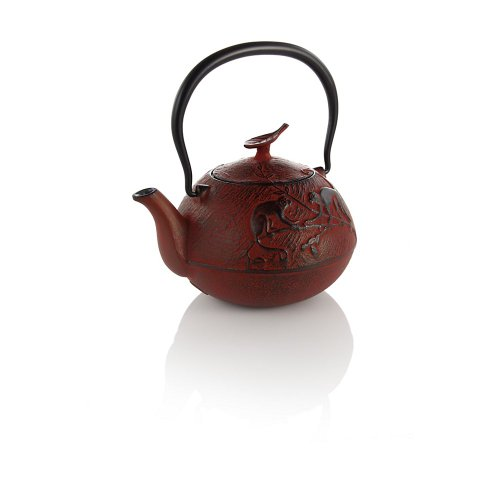Teavana Year Of The Monkey Cast Iron Teapot, Red