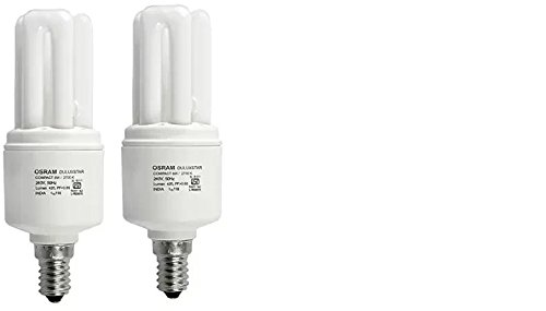 Osram 8W E14 Mini Stick CFL Bulb (White, Pack of 2)