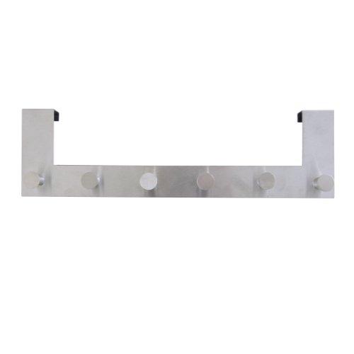 Axentia-Wandgardrobe-mit-6-Haken-39-x-11-x-8-cm-Gardrobenleiste-aus-Edelstahl-Raumsparwunder-Gardrobenhaken-Abstellraum-Kinderzimmer-Flur-Schlafzimmer-Kche-oder-Badezimmer-Handtuchhalter