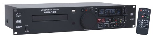 American Dj Supply Ucd100 Single Cd Mp3 Player With Wireless Remote 2 Rack Spaces