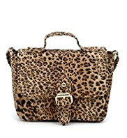 Leopard Design Mini Satchel Bag