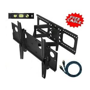 "Mount-It! Mount-it Plasma LCD Flat Screen TV Articulating Full Motion Dual Arm Wall Mount Bracket For 32-65""; Up To 165LBS Black W at Sears.com"