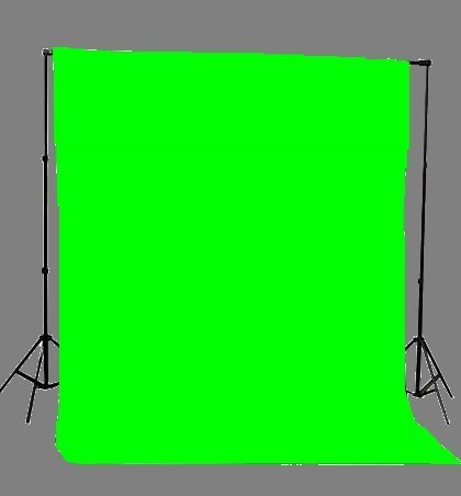 FoxHunter Studio Photography Photo Background Support Stand 2m x 2m with Free 1.6m x 2.2m Green Muslin Screen and Carrying Bag