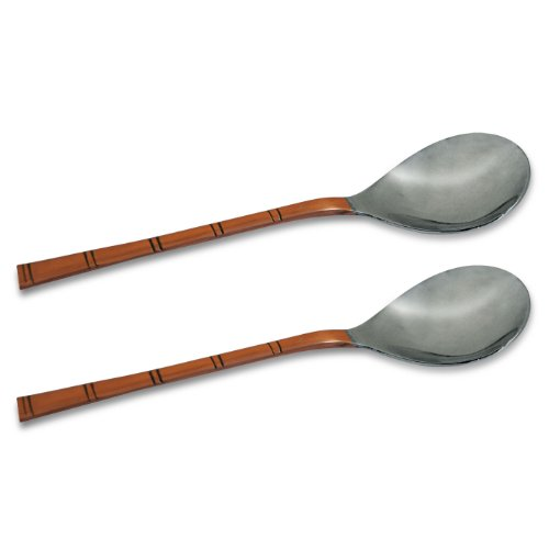 AsiaCraft Stainless Steel Copper Serving Spoon Set Of 2