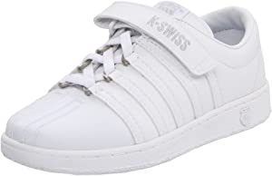 K-Swiss 51277 Classic VLC Tennis Shoe (Little Kid),White/Light Grey,11 M US Little Kid