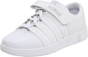 K-Swiss 51277 Classic VLC Tennis Shoe (Little Kid),White/Light Grey,11 M US Little Kid