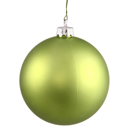 Vickerman Matte Finish Seamless Shatterproof Christmas Ball Ornament, UV Resistant with Drilled Cap, 12/Bag, 2.75