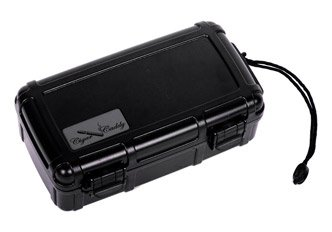 Cigar Caddy 3240 10 Cigar Waterproof Travel Humidor, Black Matte