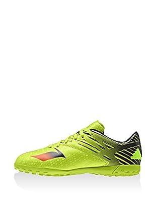 adidas Zapatillas de fútbol Messi 15.4 TF J (Verde / Rojo / Negro)