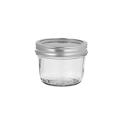 Kerr 00500 Wide Mouth 8 Oz. Glass Mason Jars - 12 / CS (Half Pint Wide Mouth Jars compare prices)
