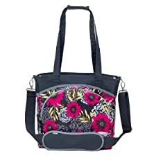 Laminated canvas 100% polyfill JJ Cole Mode Diaper Tote Bag changing pad included - Midnight Dahlia Nourrisson, Bébé, Enfant, Petit, Tout-Petits