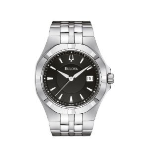 Bulova Men's 96B123 Black Dial Bracelet Watch