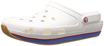 Crocs Retro Clog, Sabots mixte adulte - Blanc (White/Red), EU 36-37 (M4/W6)