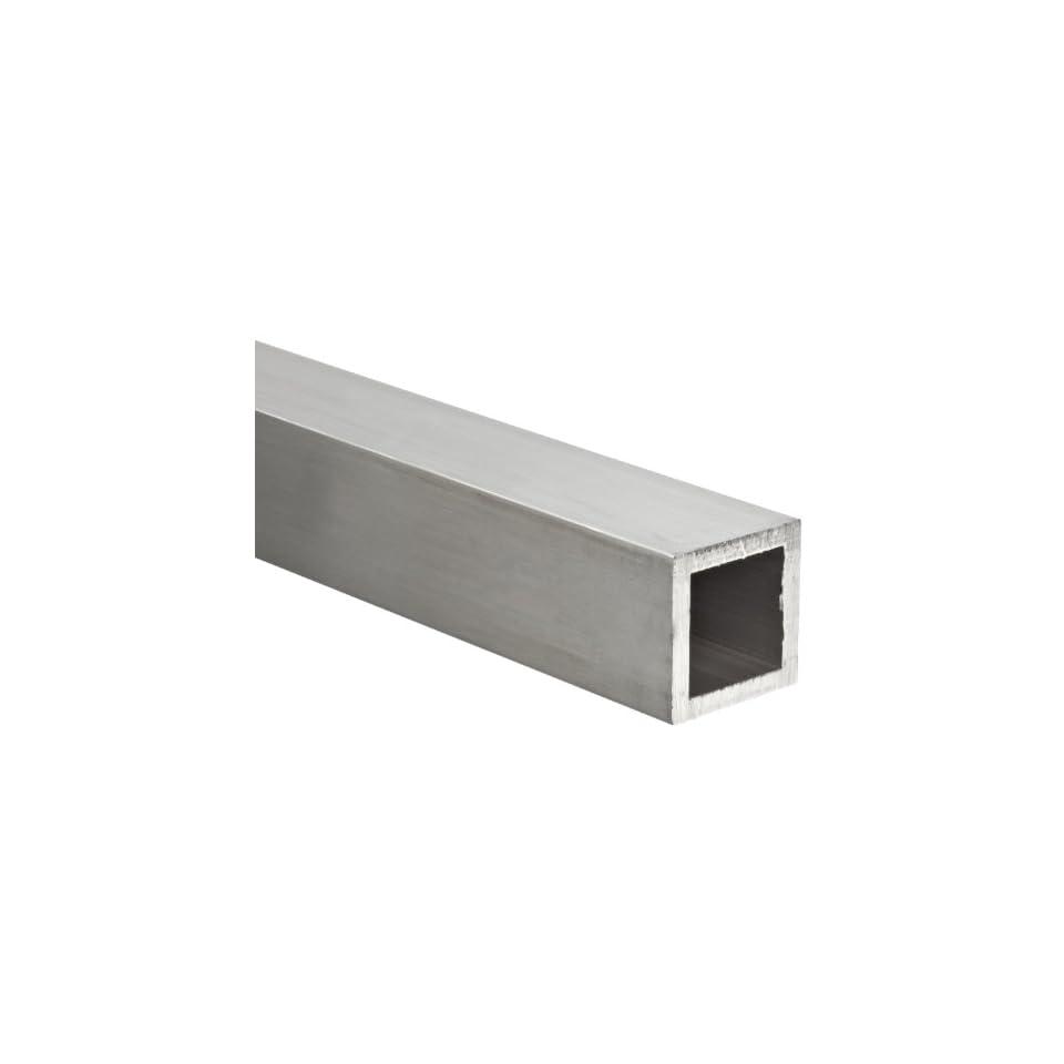"1-1//4/"" x 12/""-long x 1//8/"" Wall 6063 T52 Aluminum Square Tube--/>1.250/"" x .125/"" w"