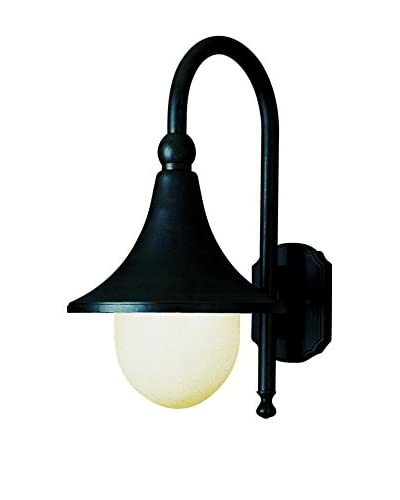 Bel Air Lighting 1-Light Coach Lantern, Black