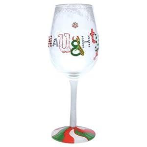 Lolita Naughty and Nice Wine Glass