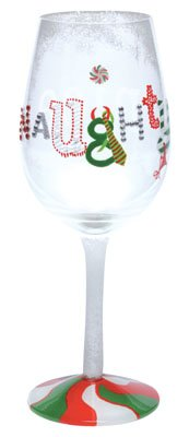 Lolita Naughty and Nice Wine Glass