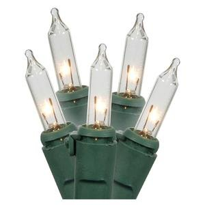 Gerson 03428 - 150 Light Green Wire Clear 6 x 4' Mesh Net Light Miniature Christmas Light String Set