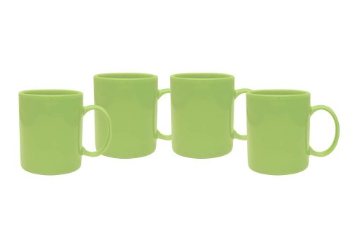 Lime green coffee mugs