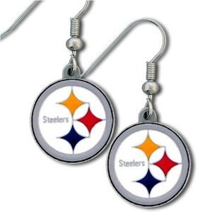 Pittsburgh Steelers Earrings J Hook Dangle Nfl Team  at Steeler Mania