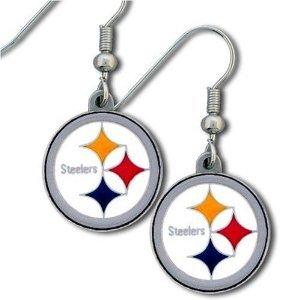 Pittsburgh Steelers Earrings J Hook Dangle Nfl Team New