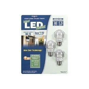 Lights Of America Decor Led Accent - 1.5 Watt (40 Watt Replacement Bulbs) 3 Pack