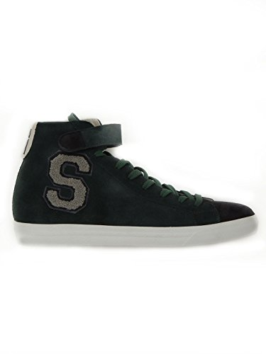 Sneakers uomo Serafini in pelle scamosciata 3141 verde 45