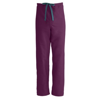Medline 800Jwnxs-Ca Performax Unisex Reversible Drawstring Scrub Pants, X-Small, Wine back-638652