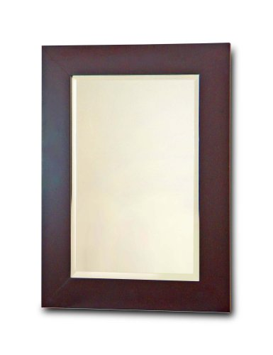 Elegant Home Fashions Chatham Collection Framed Beveled-Edge Glass Mirror, Dark Espresso