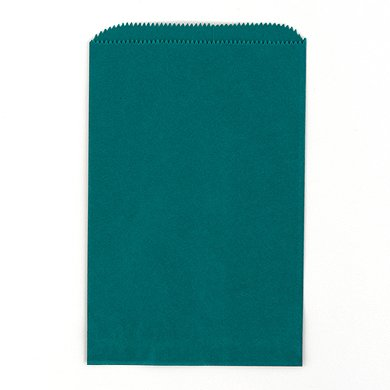 Flat-Pocket-Style-Goodie-Bag-Peacock-Green-25-pack