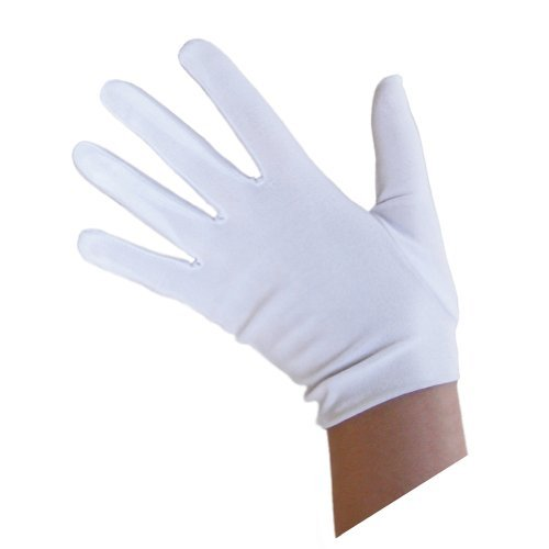 SeasonsTrading Child White Costume Gloves ~ Halloween