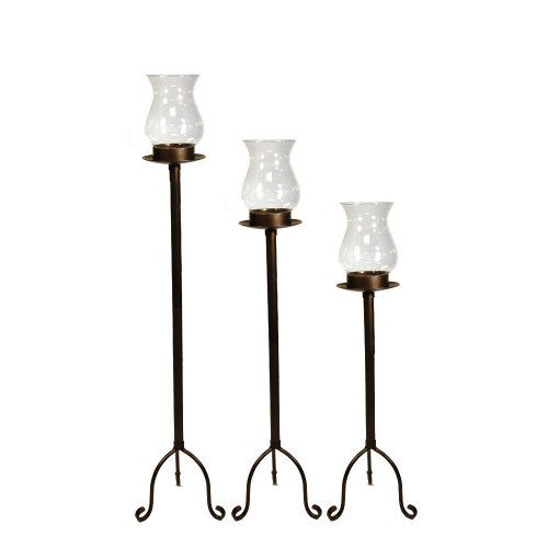 Picture of pomeroy bilbao floor candle holder hurricanes for Floor candle holders